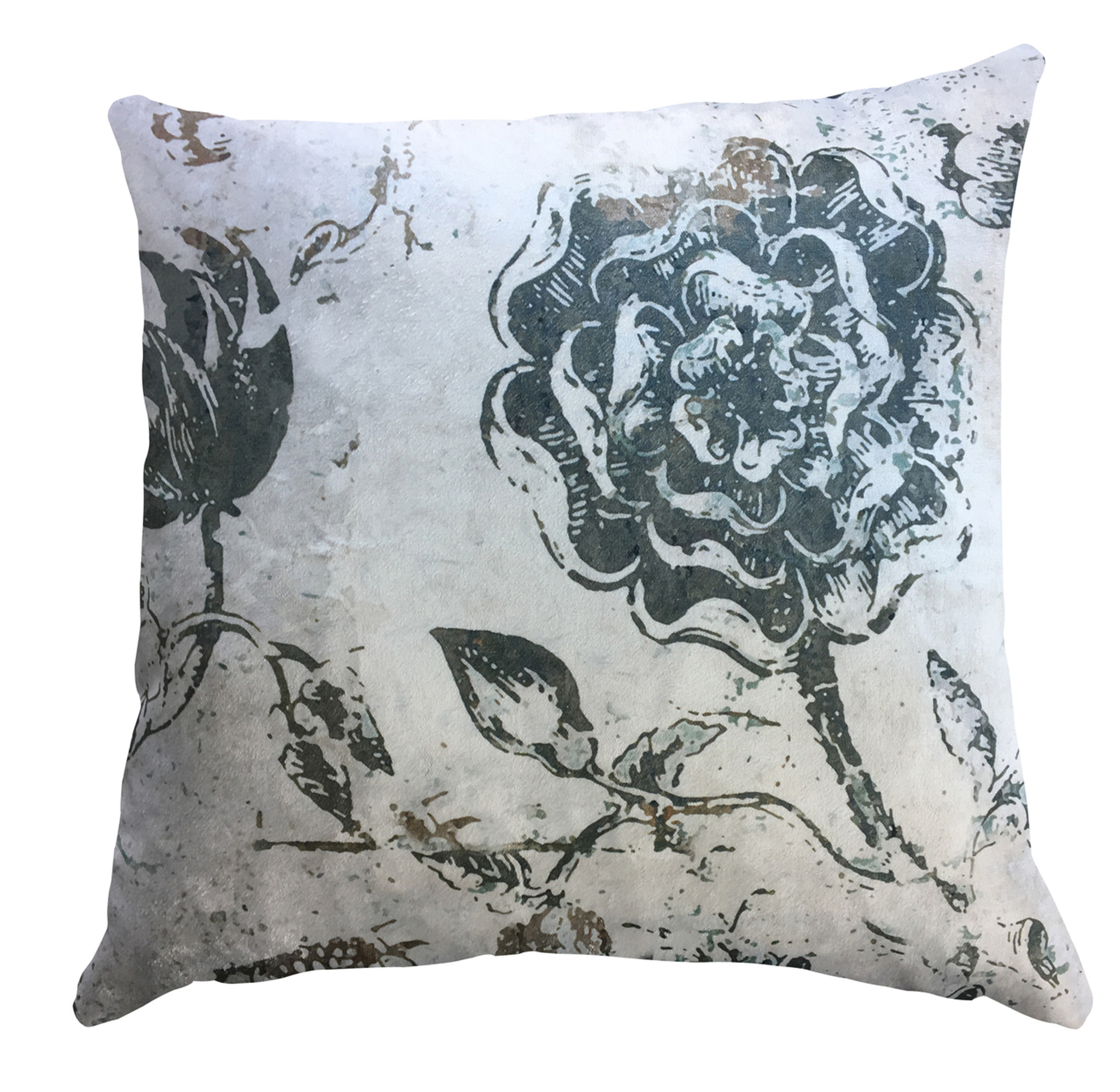 Cushion Cover - Botanical Graffiti Light