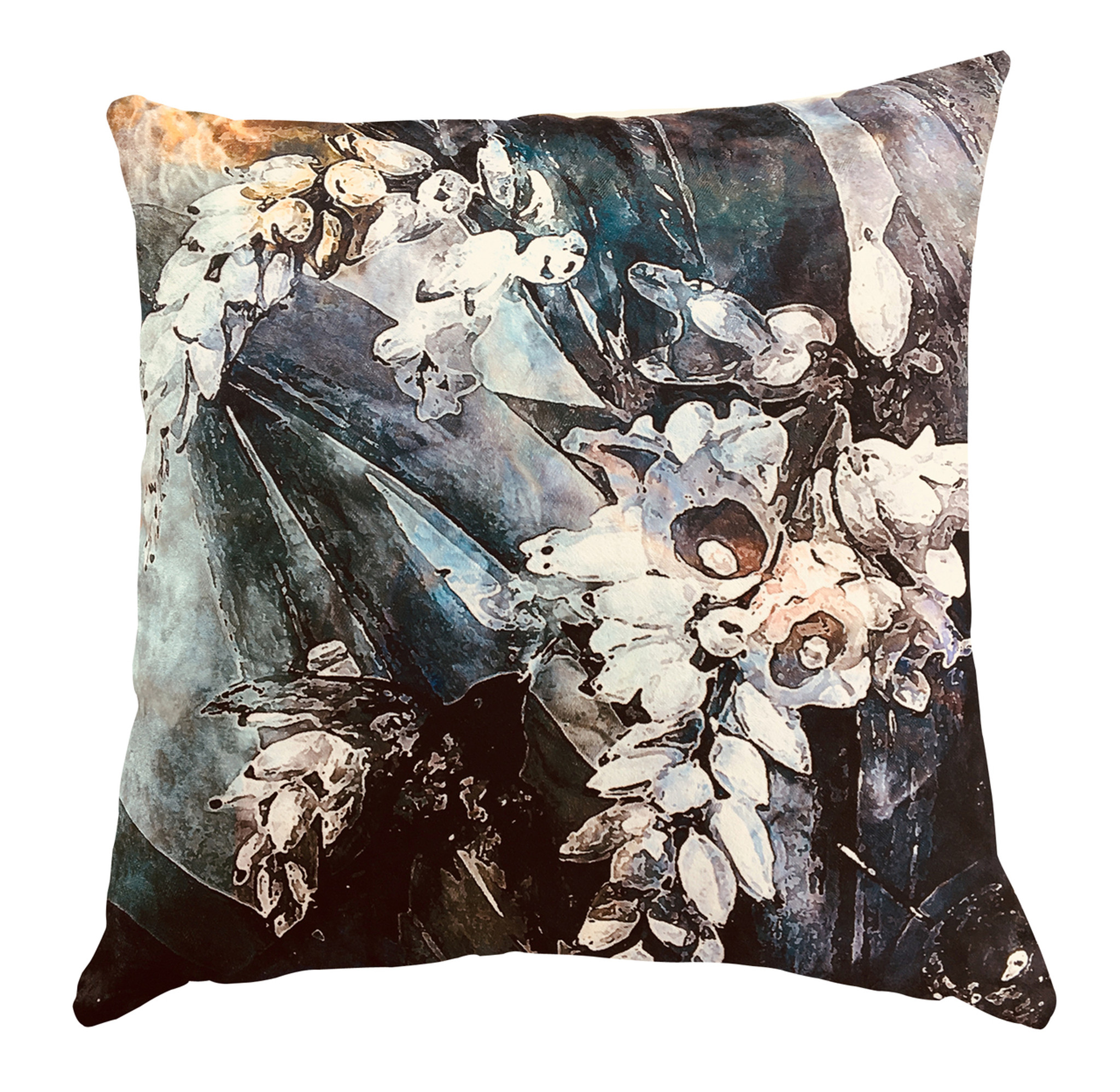 Cushion Cover - Flower Power Incandescent Ginger