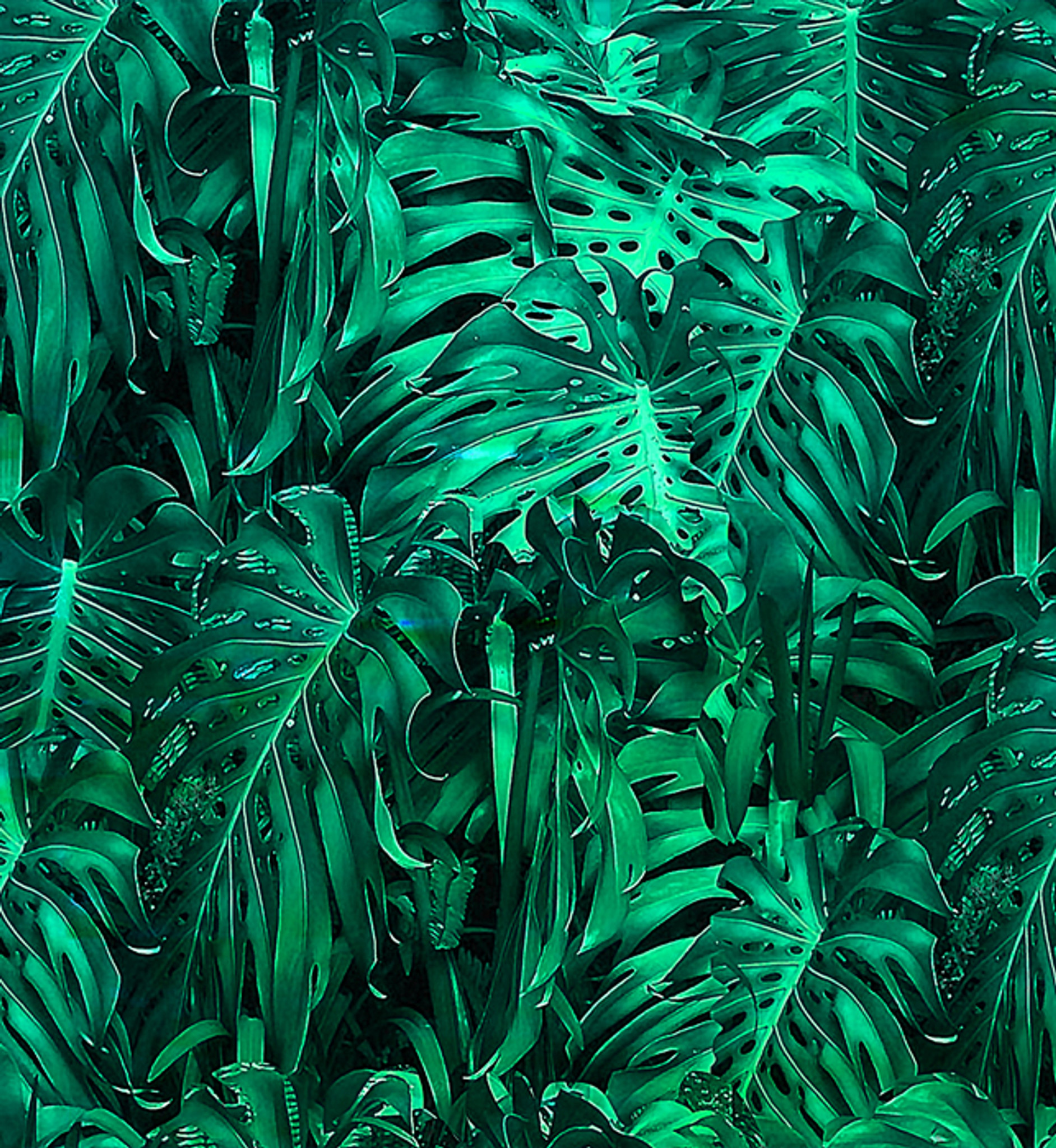 Wallpaper - Jungle Vibe - Metallic Green