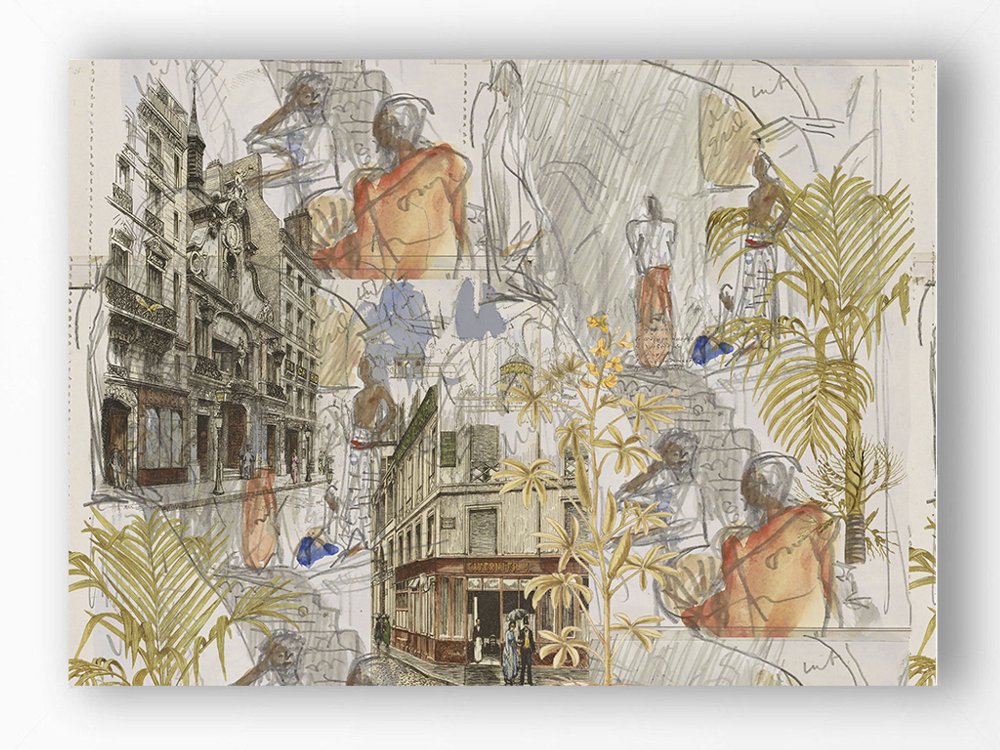 Art Print - Urban Sketches - Paris