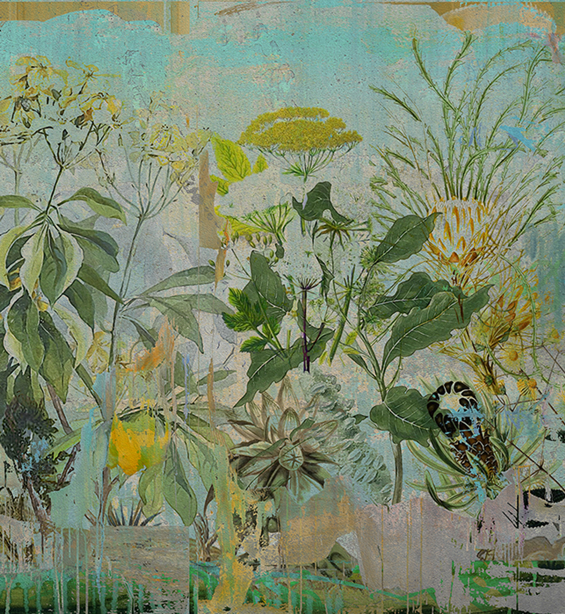 Wallpaper - Into the Wild - Wild Bunch in Blue