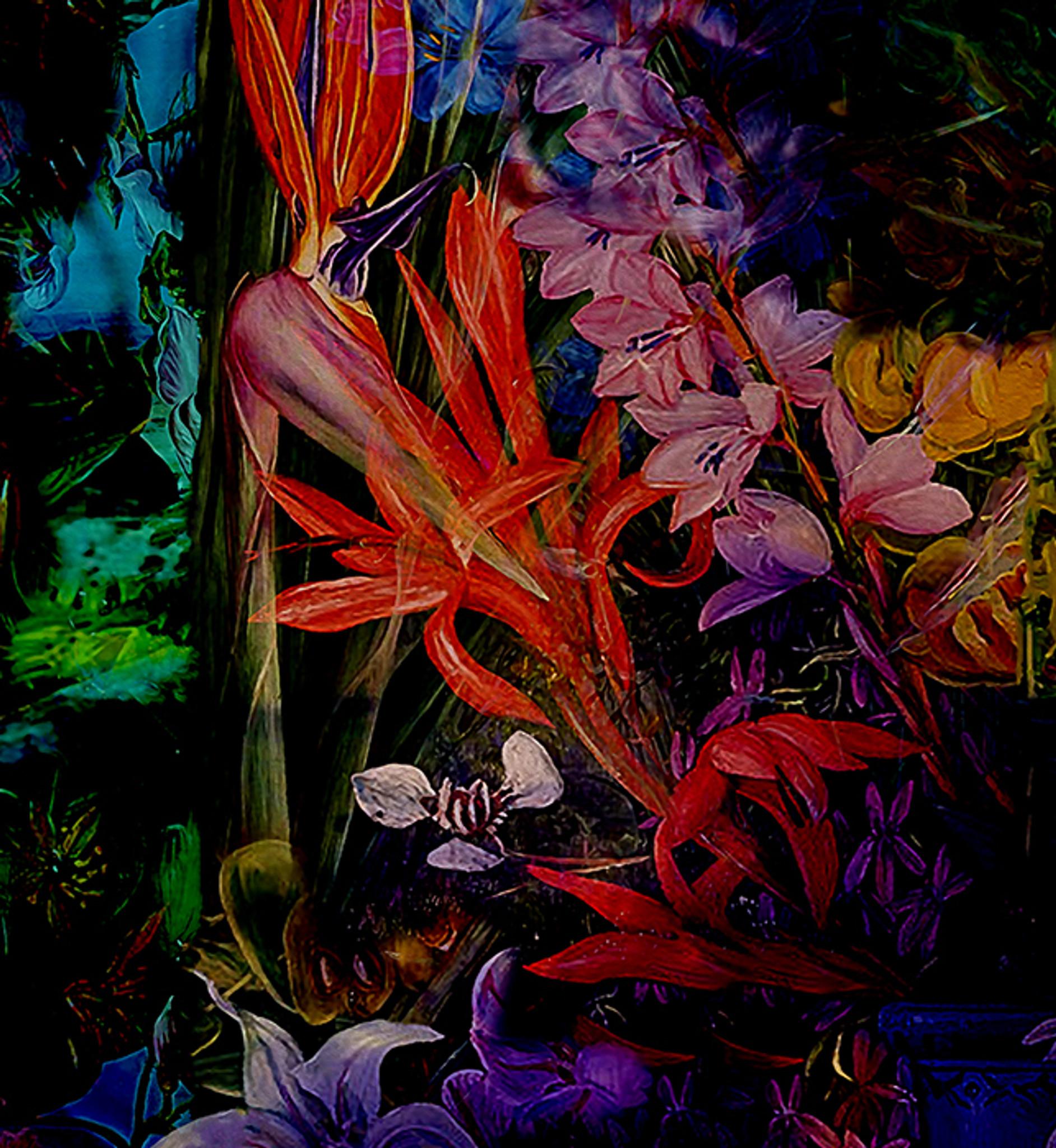 Wallpaper - Jungle Vibe - Dark Floral