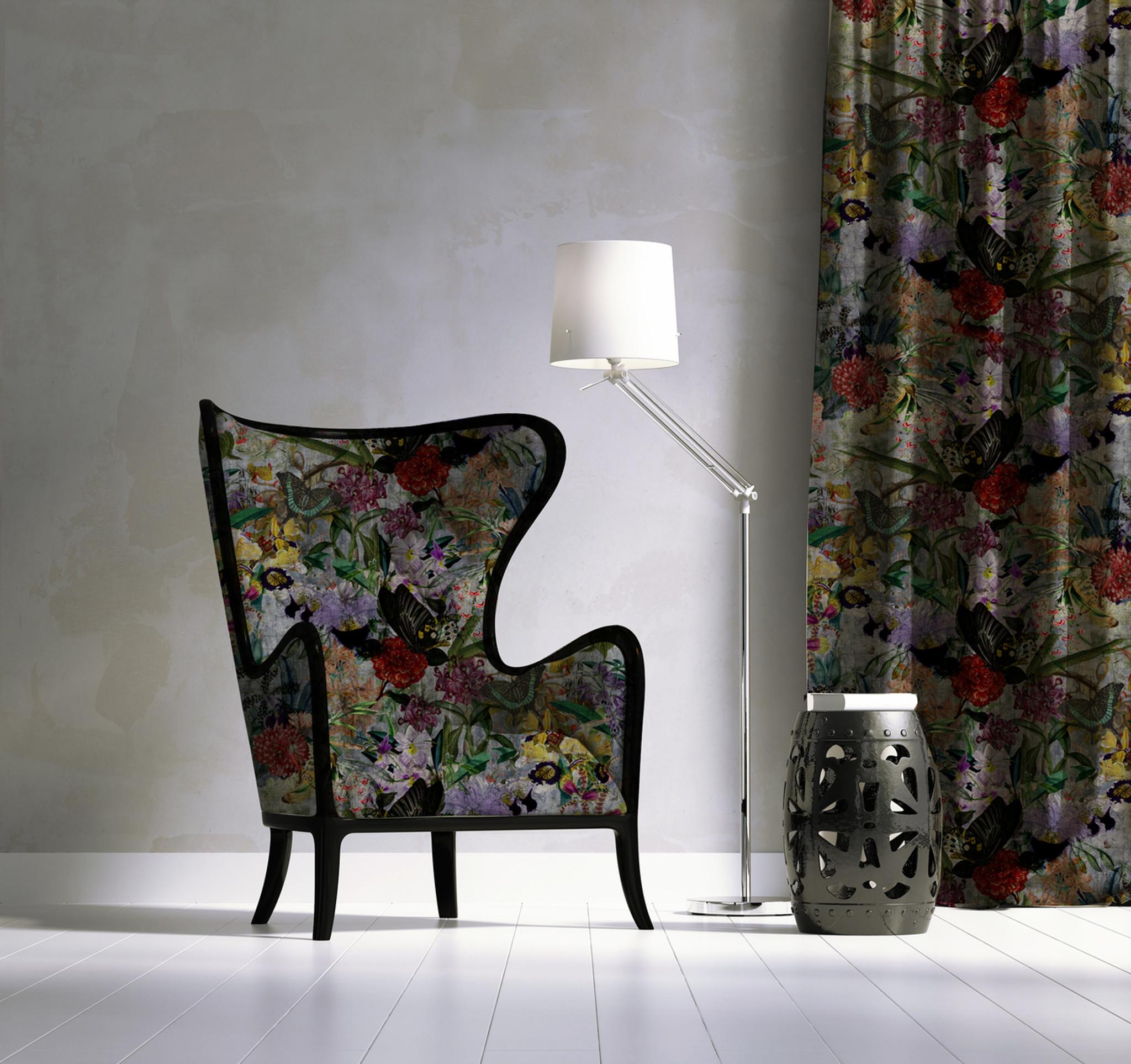 Fabric - Silver Wall Garden
