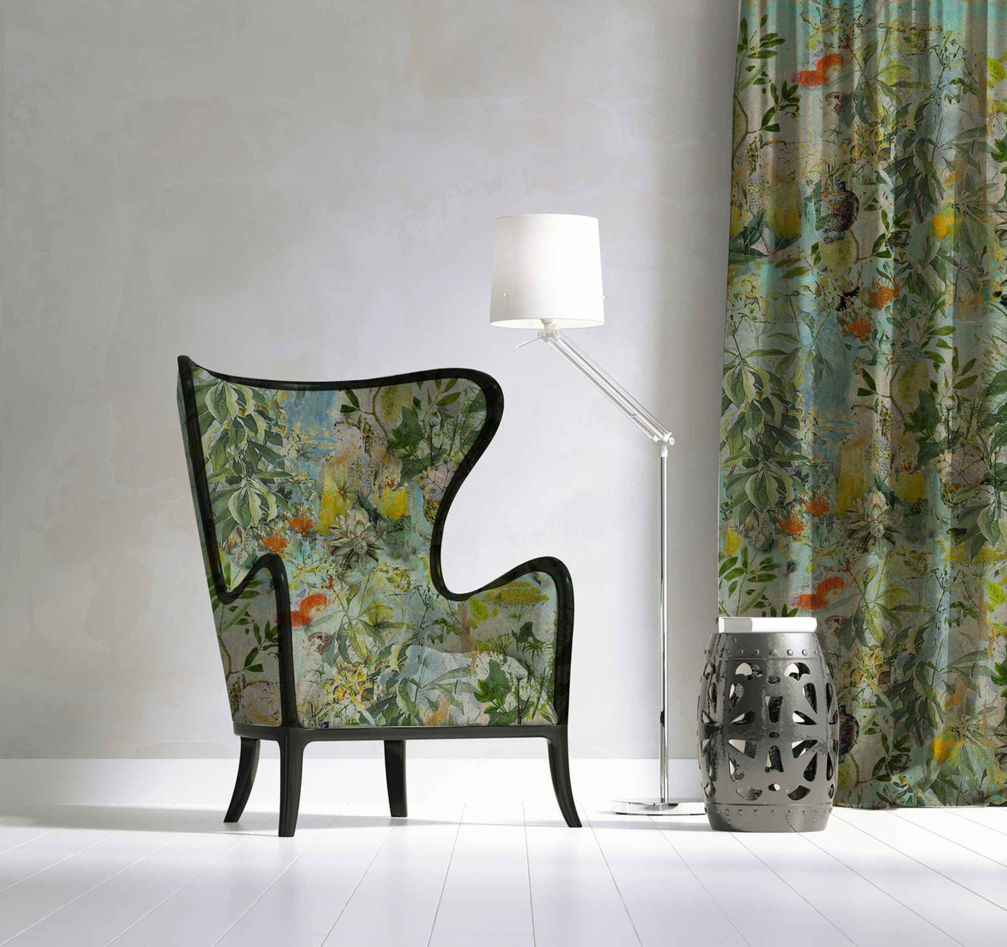 Fabric - Into the Wild - Wild Bunch in Blue