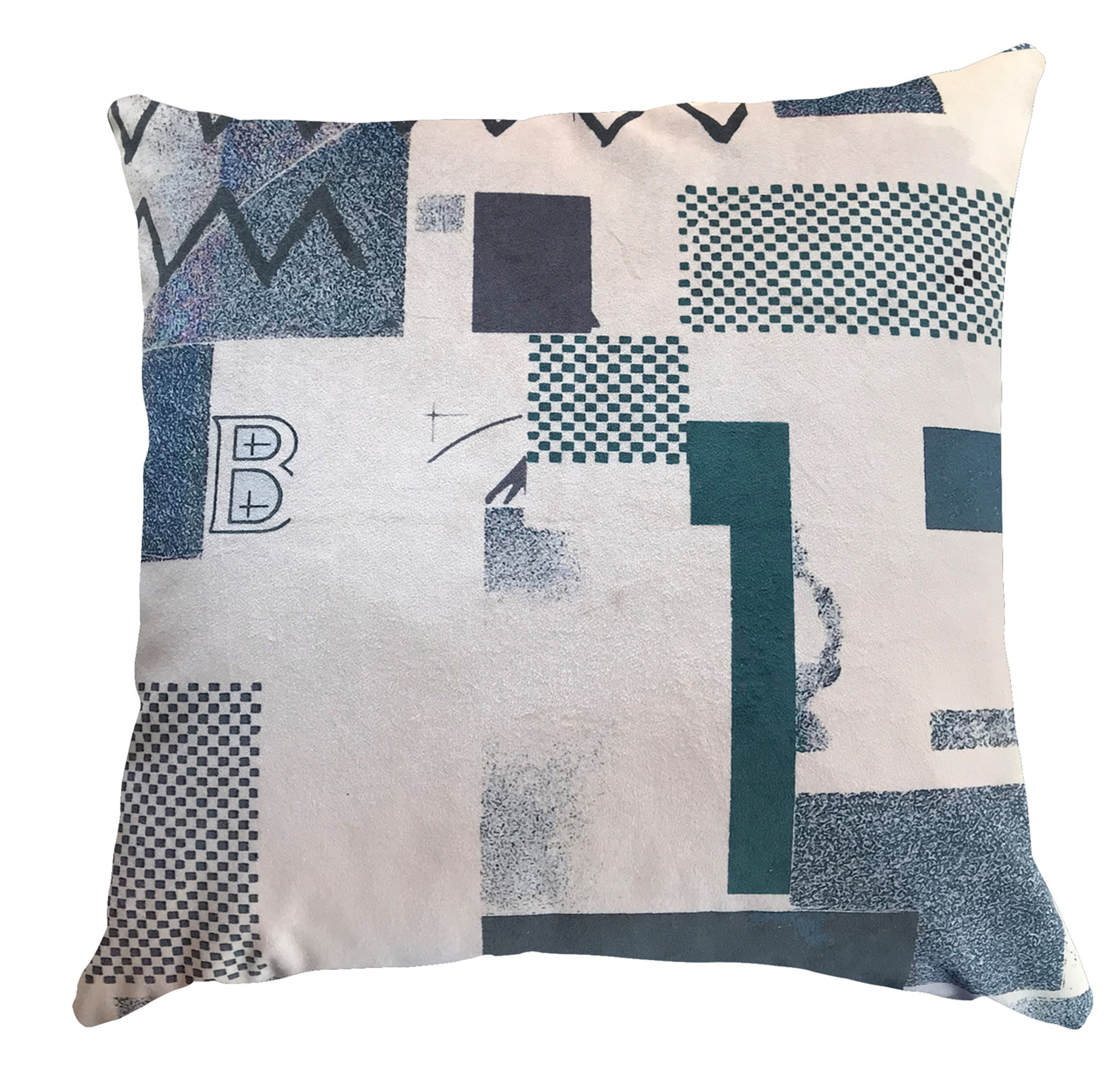 Cushion - Modigliani Was Here - Abstract in Blue B1