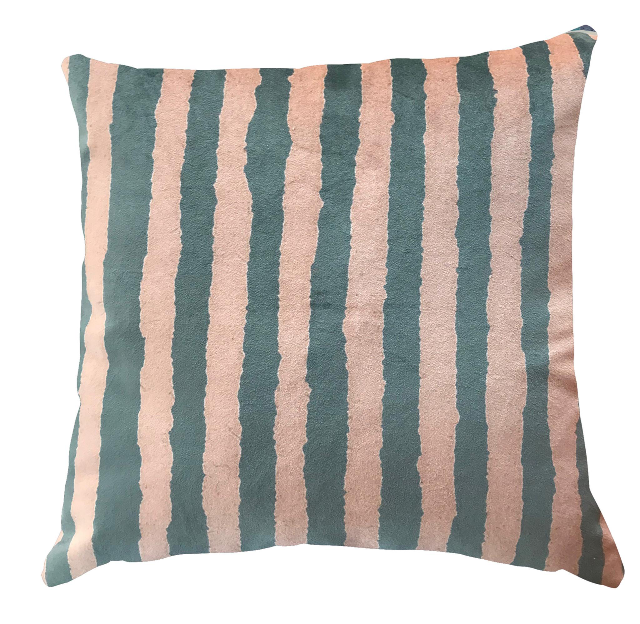 Cushion - Modigliani Was Here - Pumpkin Stripe