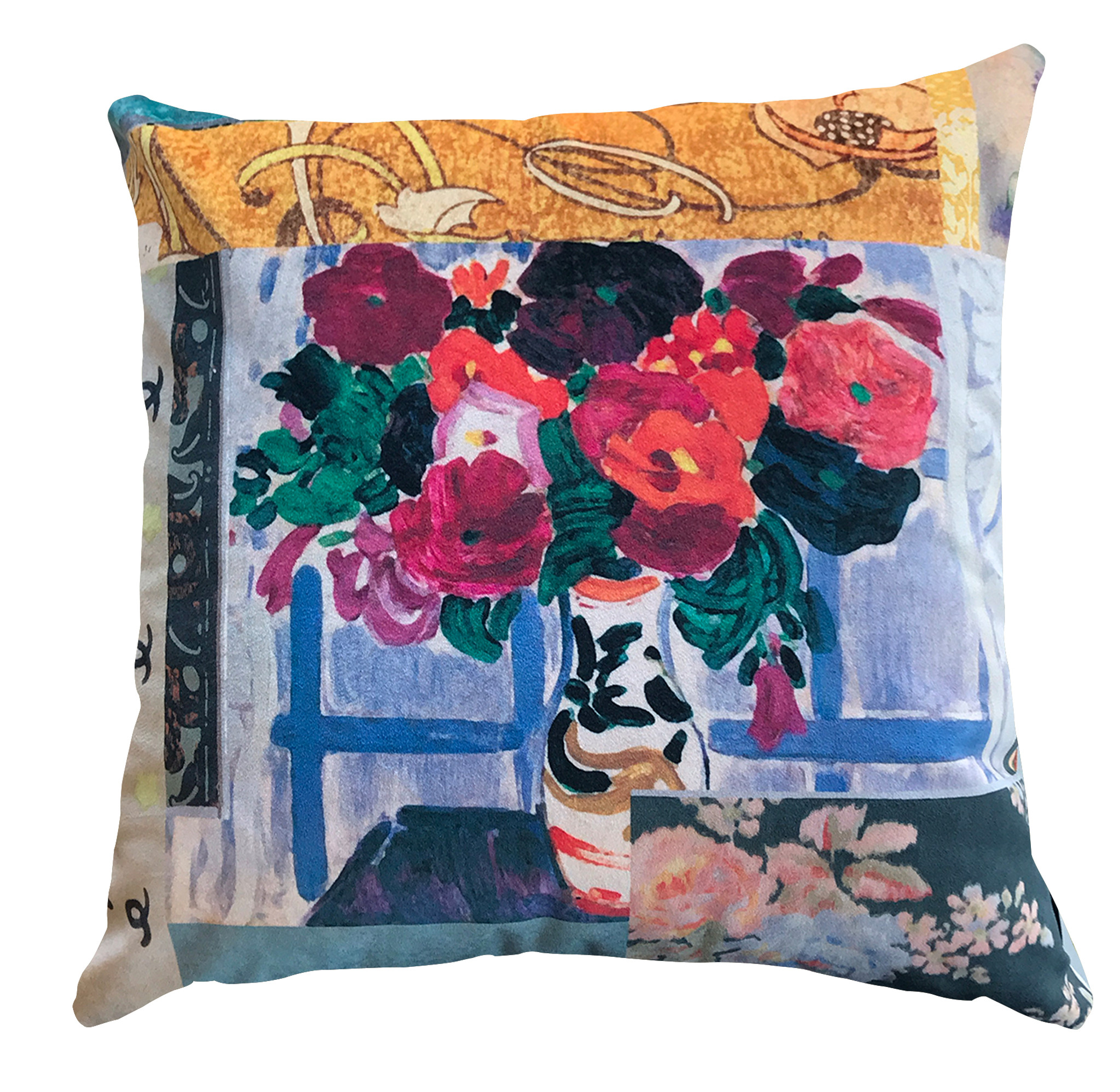 Cushion - Modigliani Was Here - Flowers in Vase
