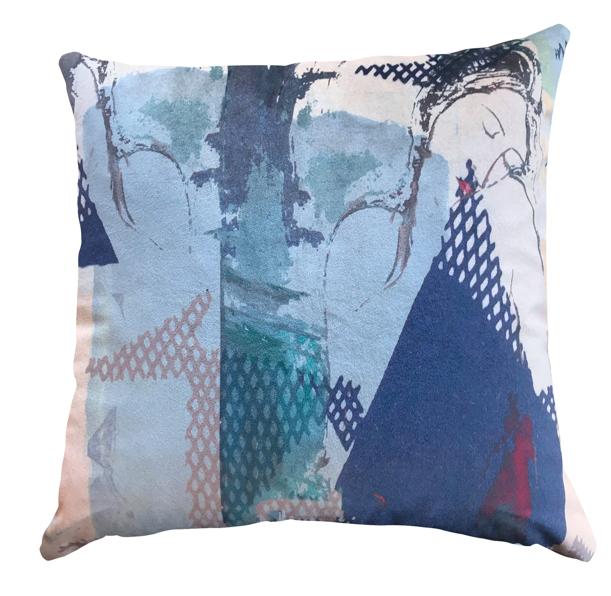 Cushion Cover - Modigliani Was Here - Club Des Filles - Blues
