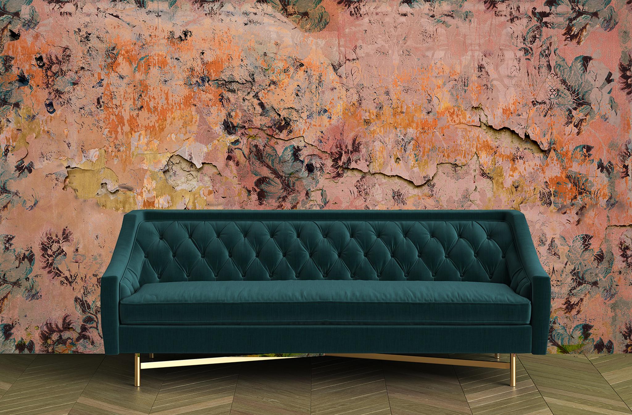 Wallpaper - Faded Empire - Fragmented Orange