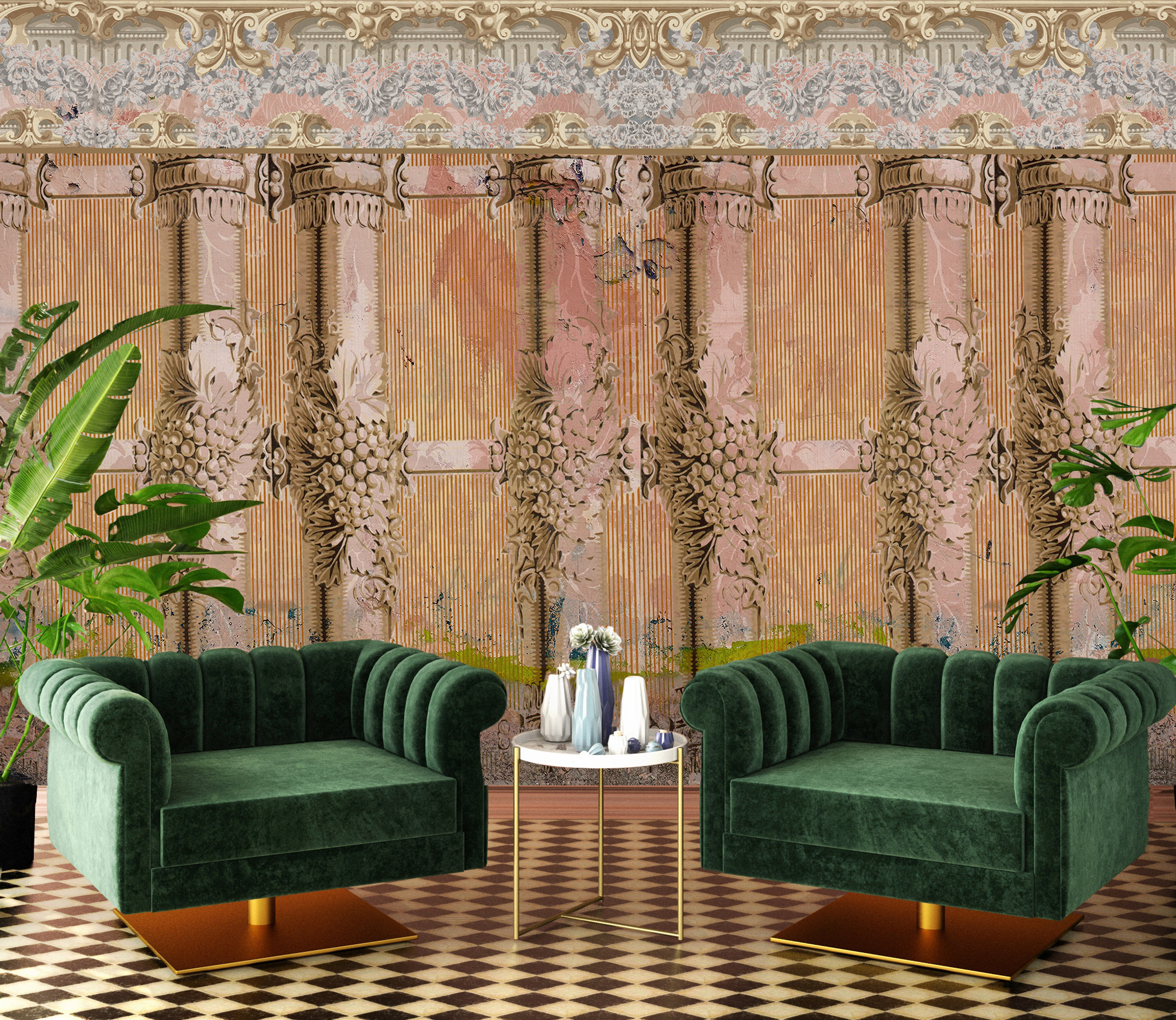 Wallpaper - Faded Empire - Villa Rosa