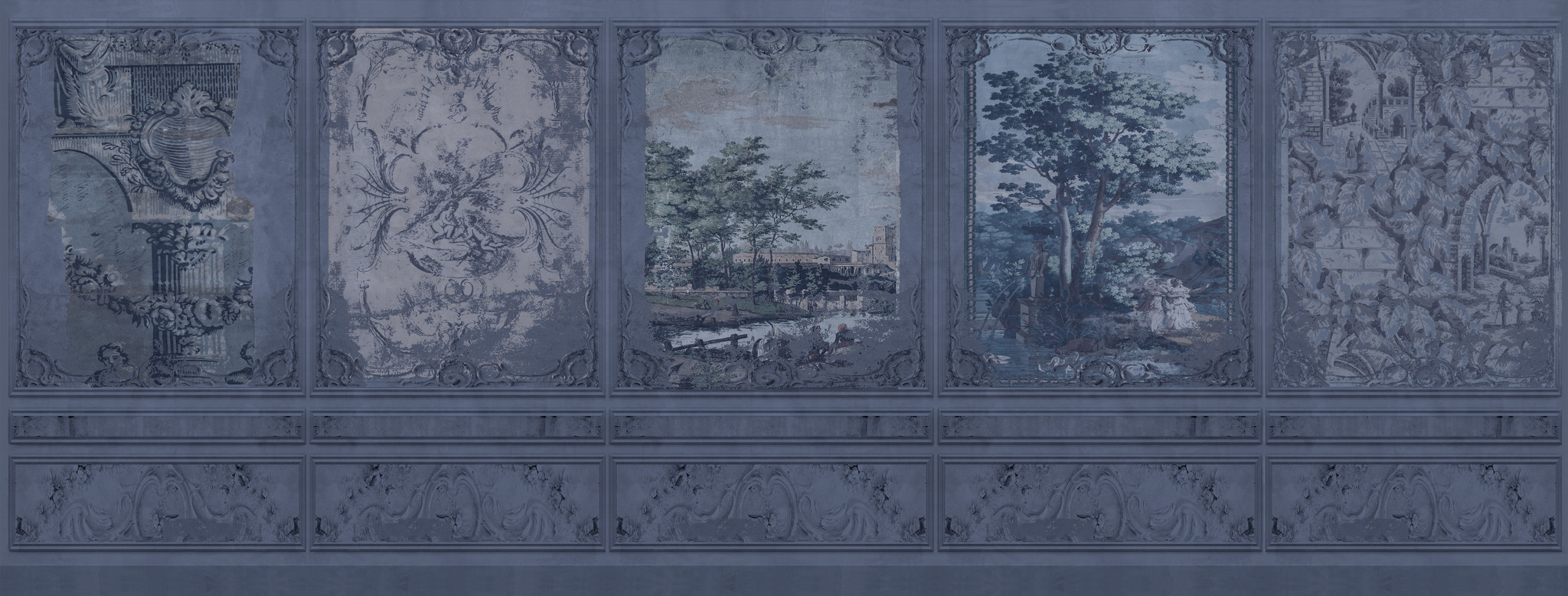 Wallpaper - Faded Empire - The Blue Room