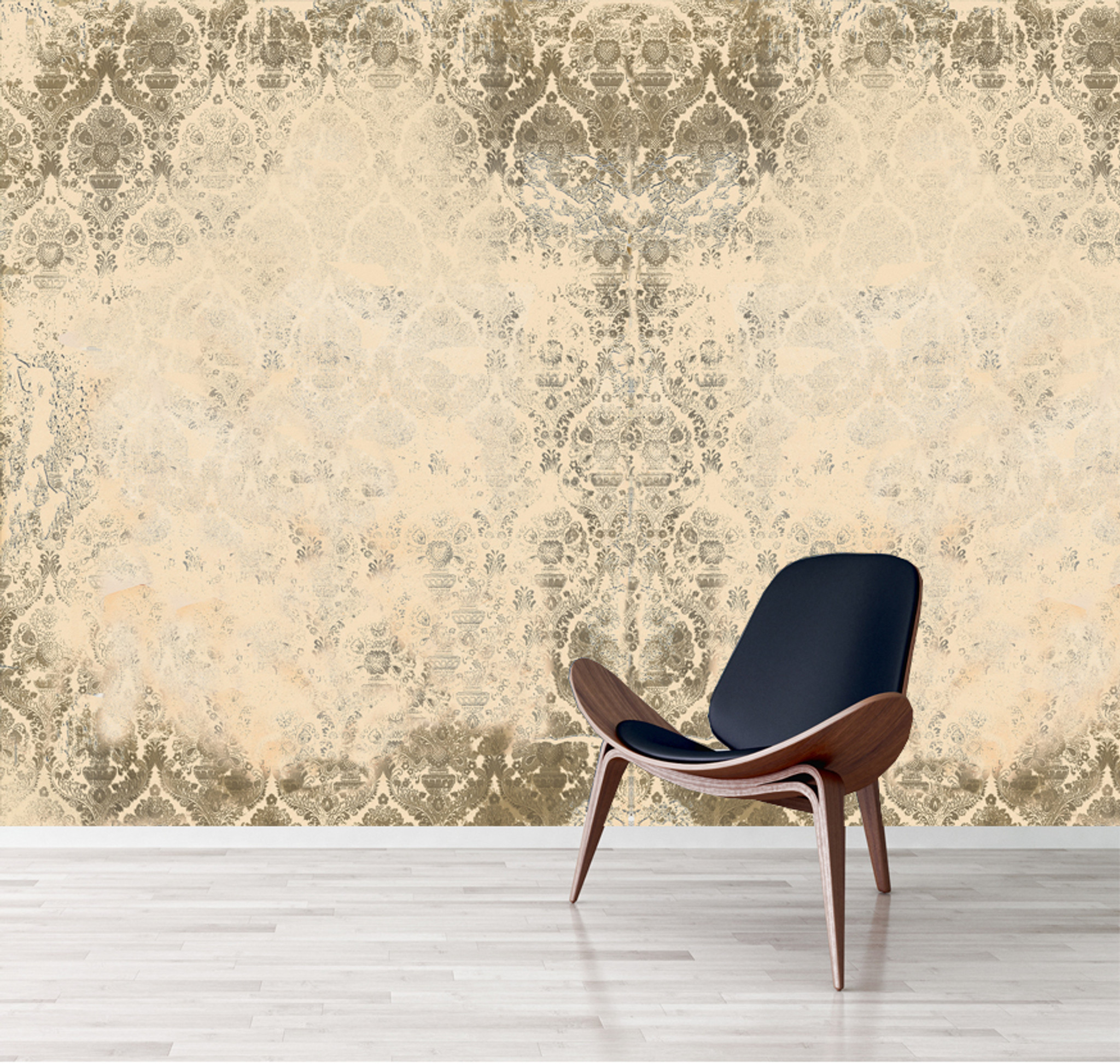 Wallpaper - Faded Empire - Faded Paisley in Blush