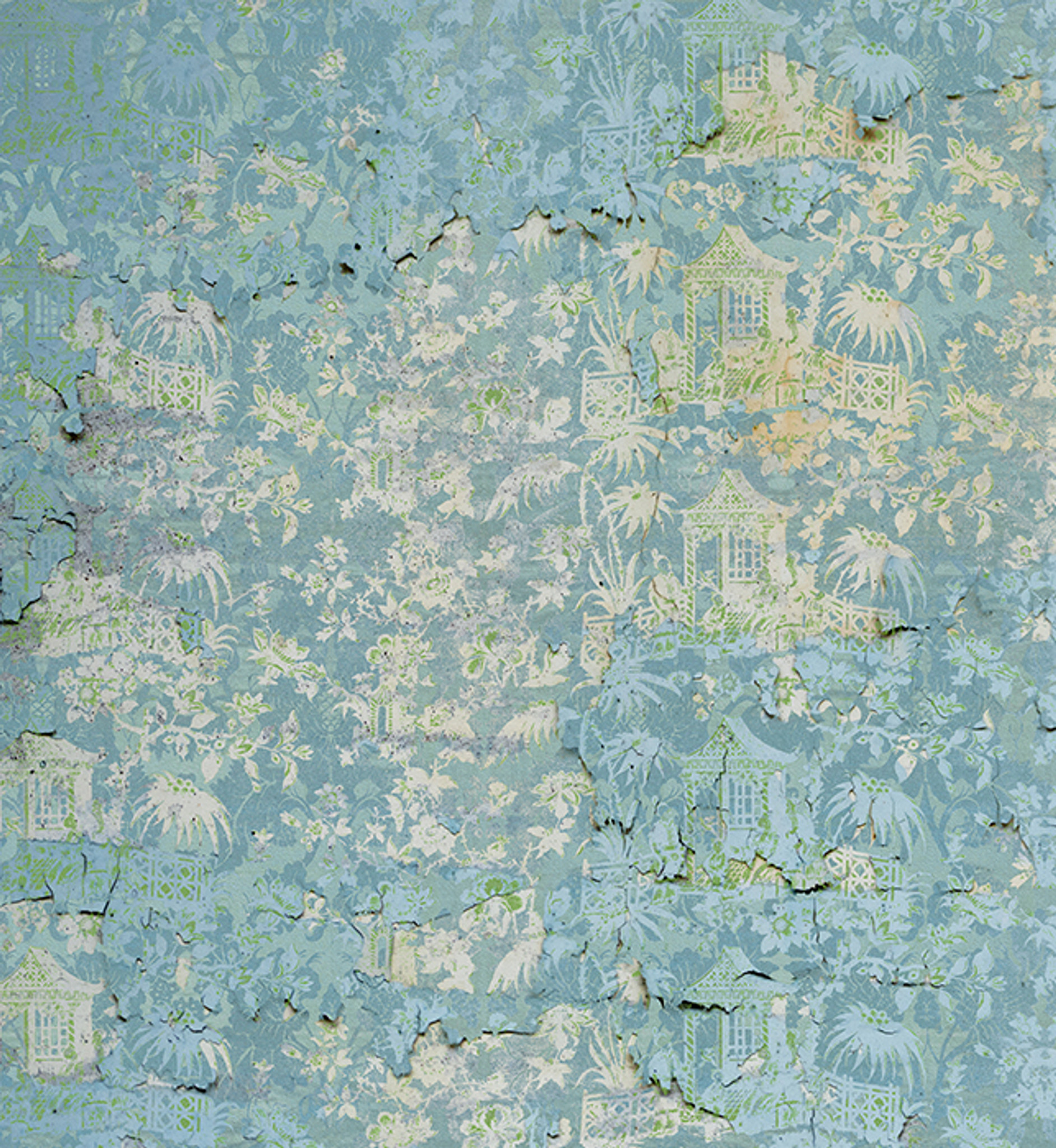 Wallpaper Chinoiserie Enchanted Garden In Melting Blue