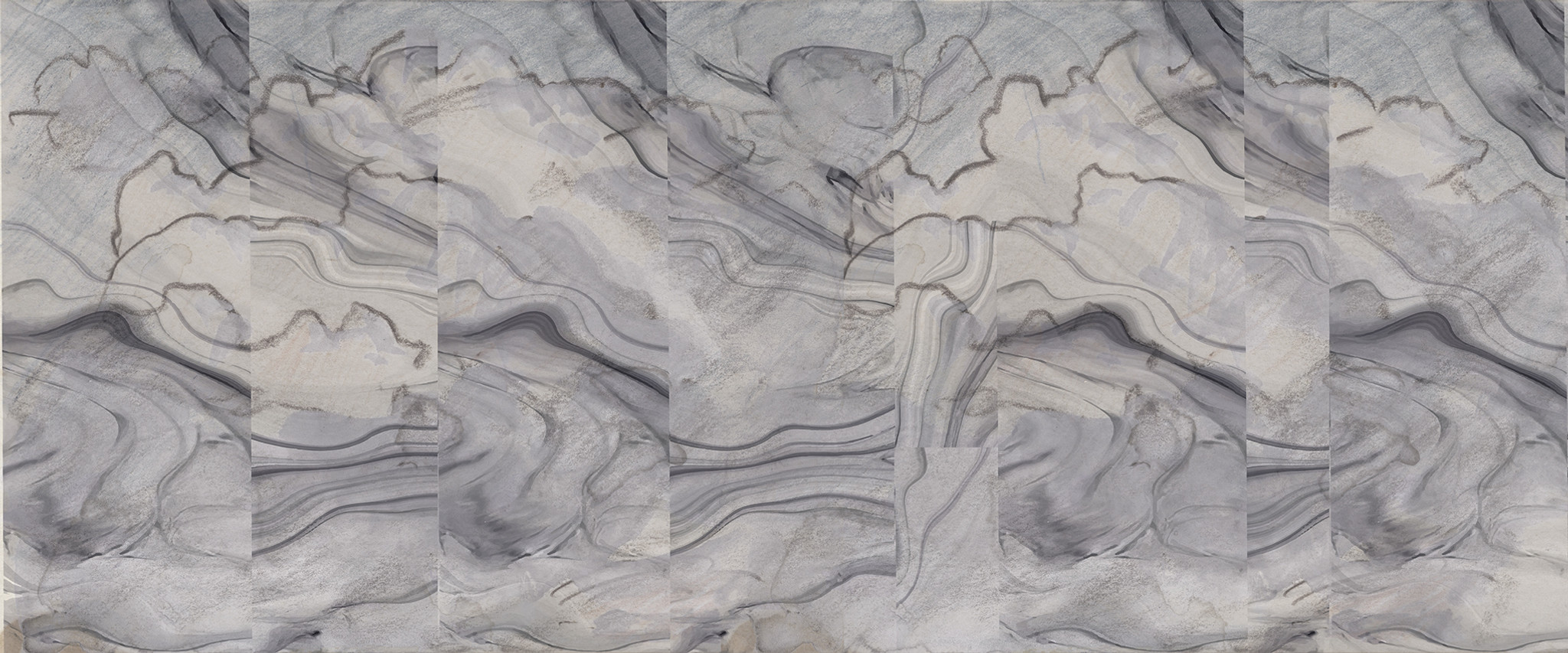 Wallpaper - Broken Marble - Black Sesame