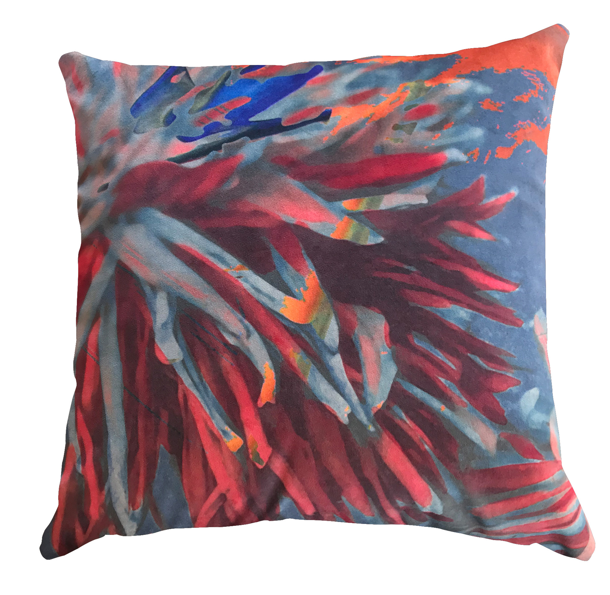 Cushion Cover - Blurred Vision - Close Up in Orange