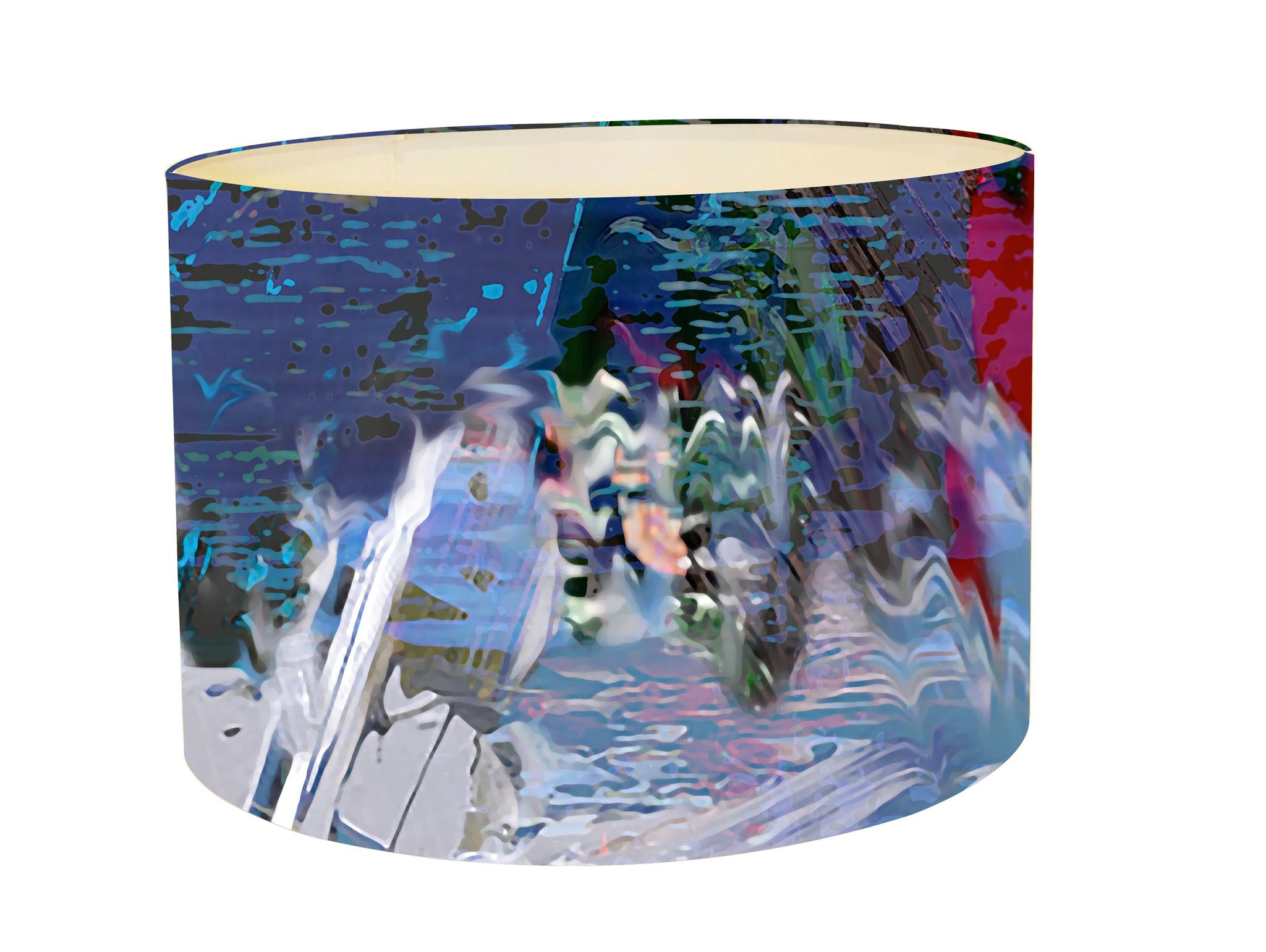 Lampshade - Blurred Vision - Blue Iris