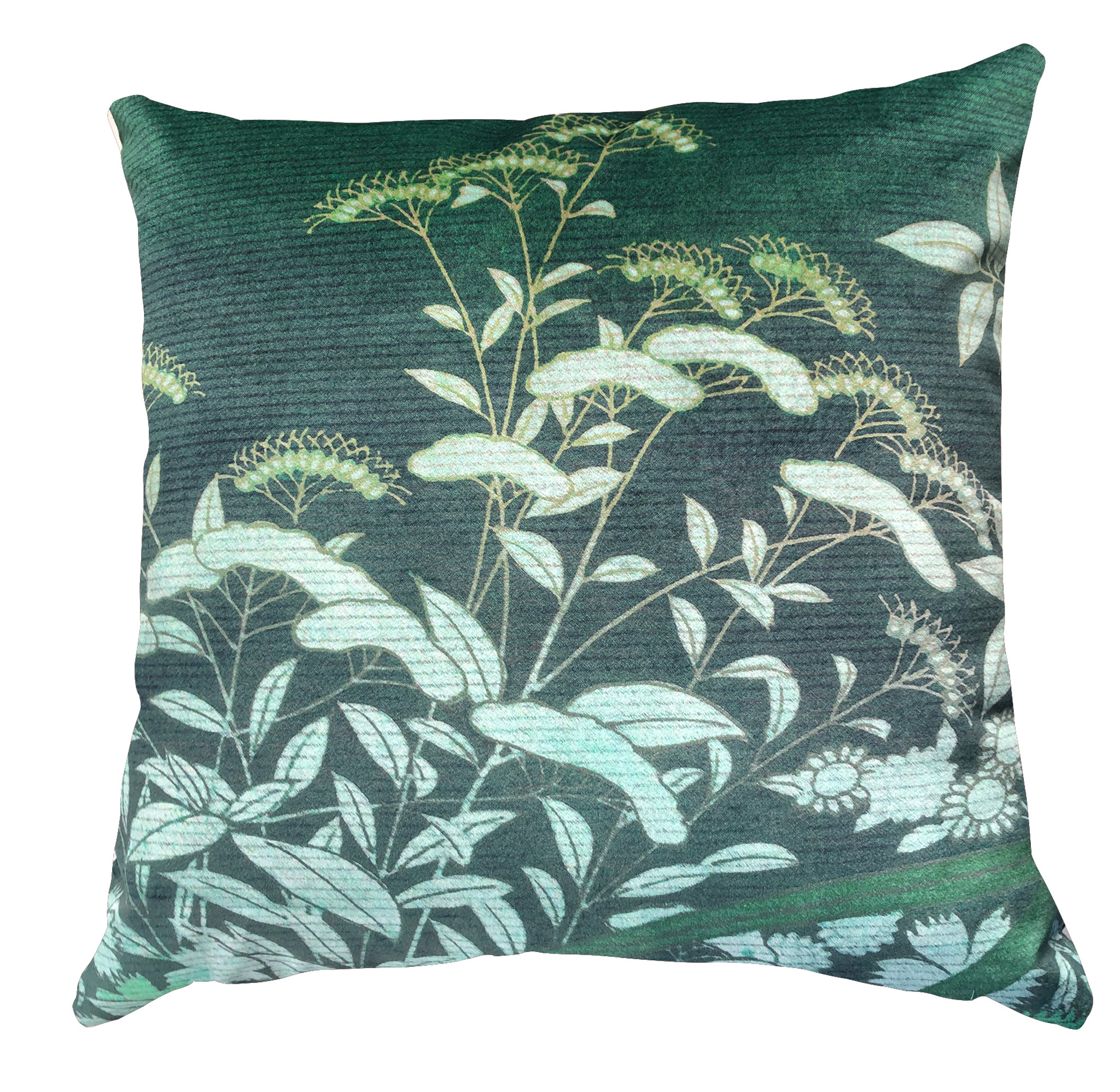 Cushion Cover - Ryokan Dreaming - Suggested Itinerary Green
