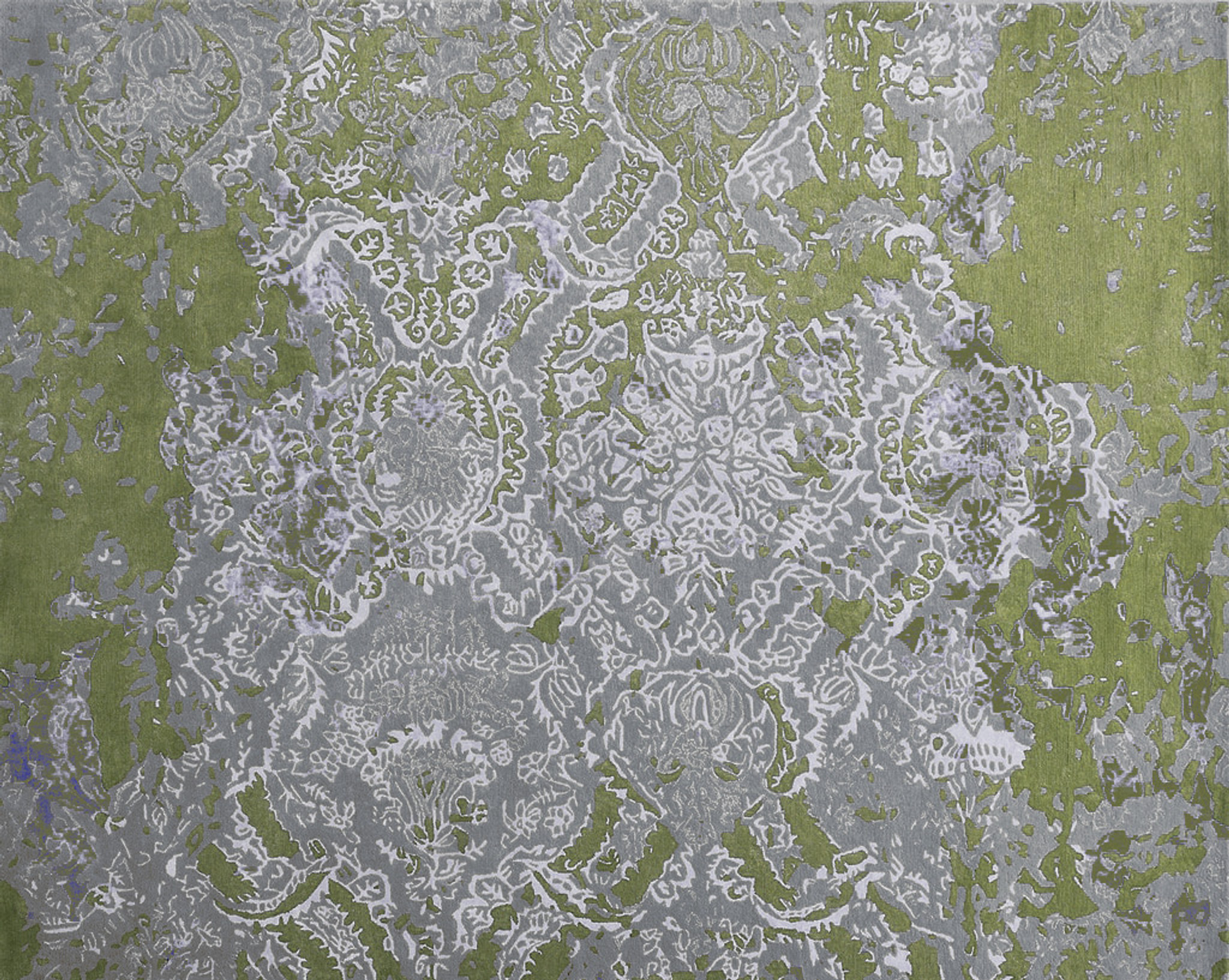 Rug - Faded Empire - Olive Green & Grey