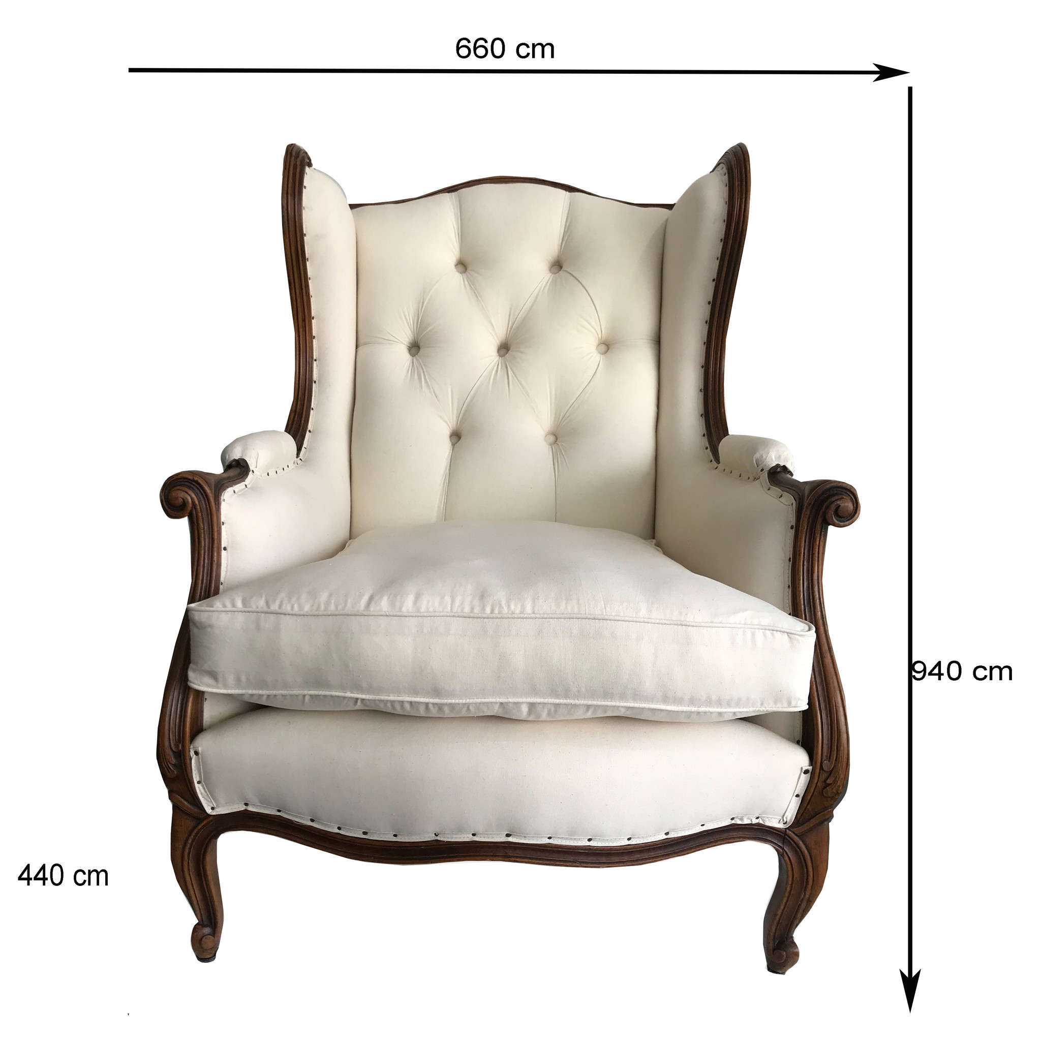 19TH CENTURY LOUIS XVI BUTTON BACK CHAIR - YOUR CHOICE OF DESIGN FOR UPHOLSTERY FABRIC (SOLD SEPARATELY OR AS A PAIR)