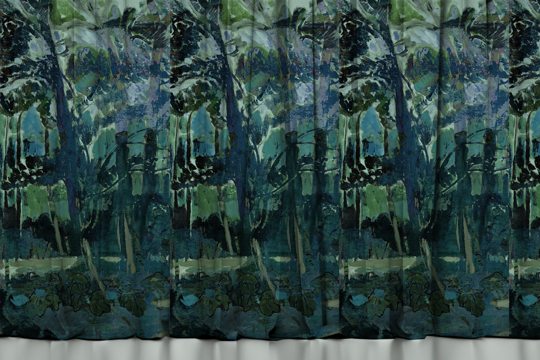 Fabric - Fauve Forest in Blue
