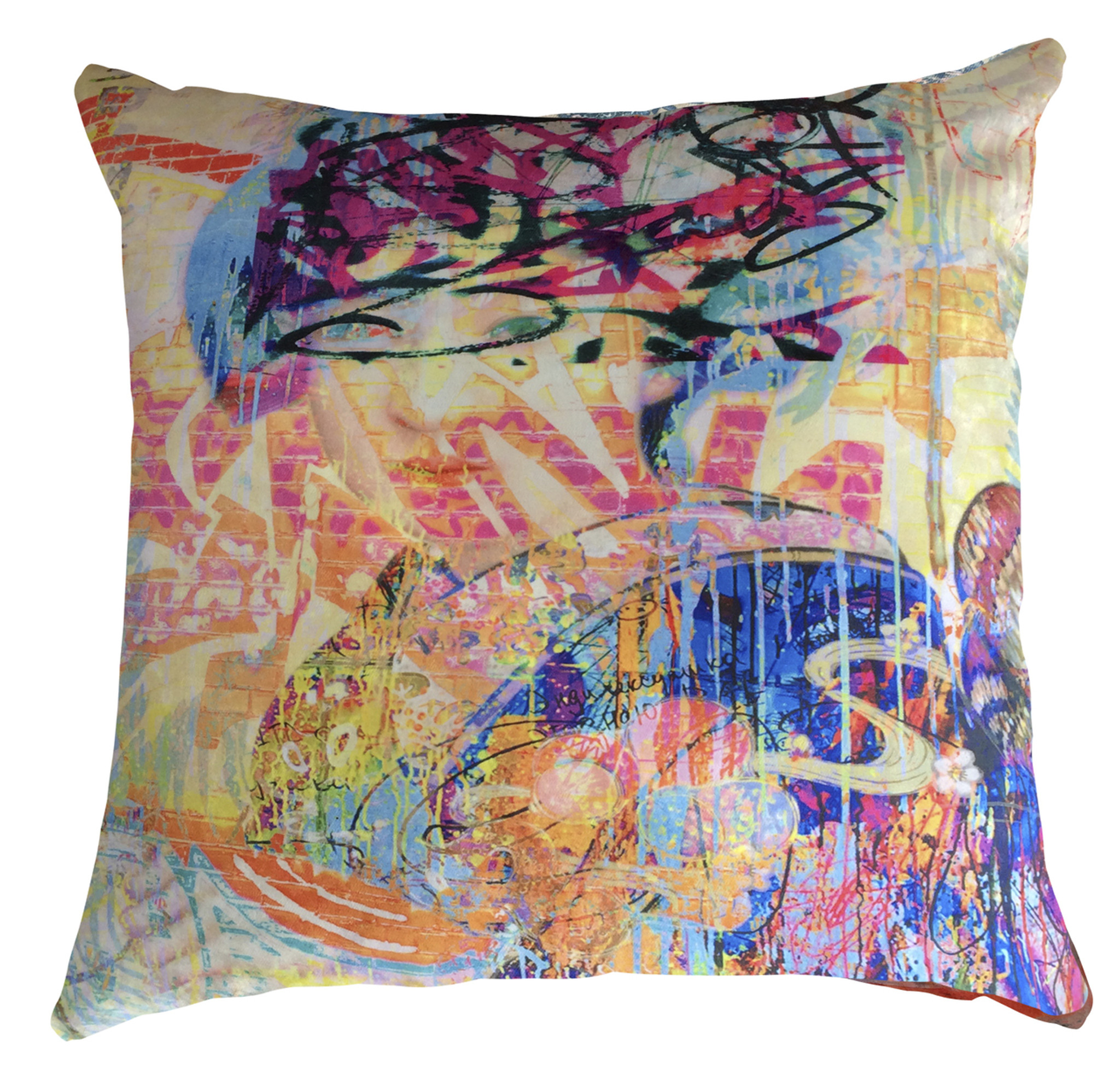 Cushion Cover - Graffiti Yum Yum