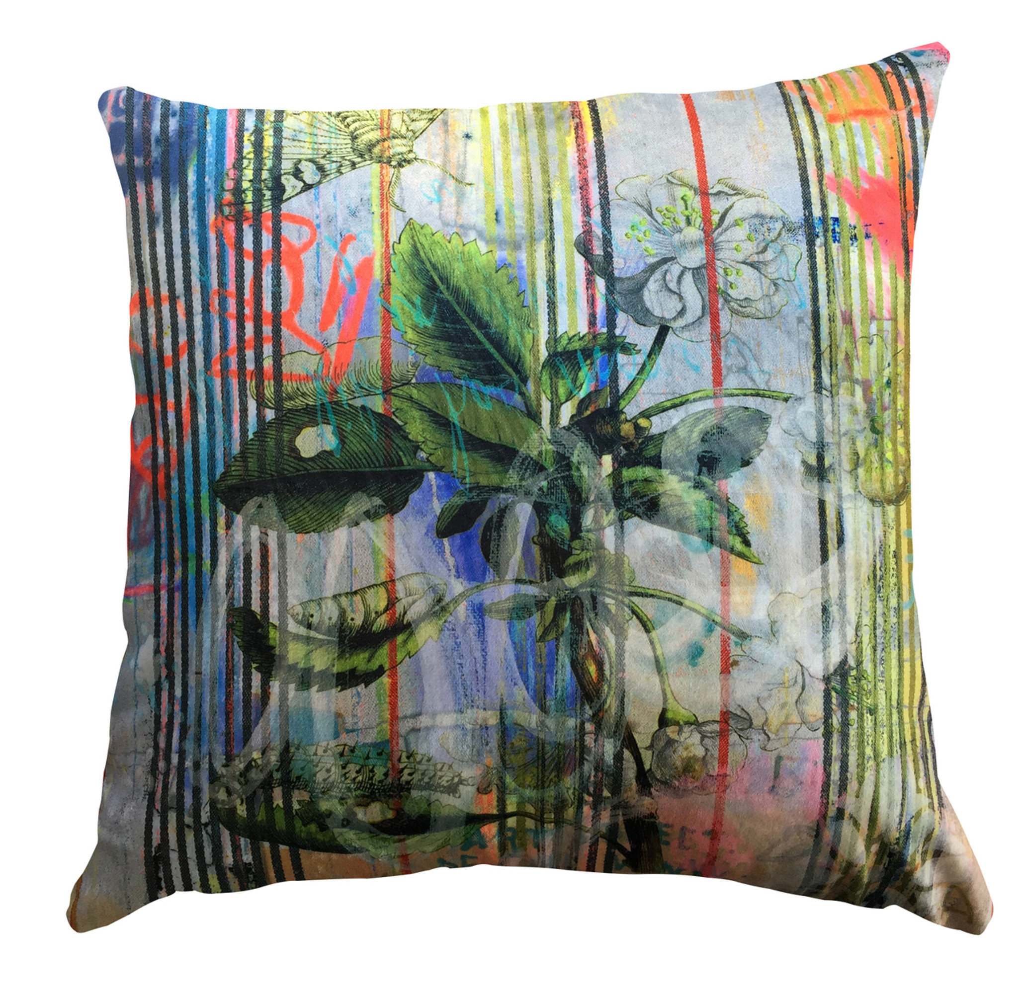 Cushion Cover - Botanical Ticking - Floral