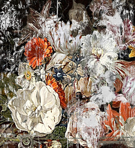 Wallpaper - Still Life with Flowers - Magnolia and Rose
