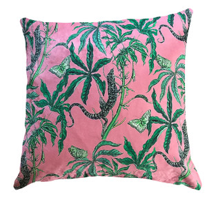 Cushion Cover - Reptiles on Pink