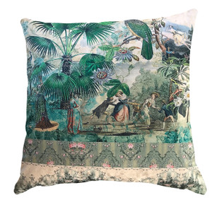 Cushion Cover - Vintage Peacock