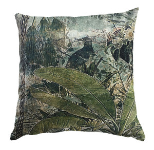 Cushion Cover - Fading Forest with Bird
