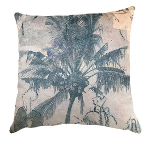 Cushion - Urban Sketches - Blue Palms