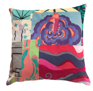 Cushion - Modigliani Was Here - Saturday Afternoon in Colour