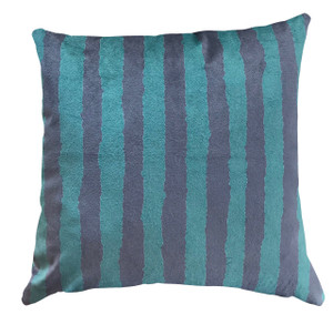 Cushion Cover - Modigliani Was Here - Dark Green Stripe