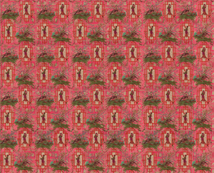 Wallpaper - Chinoiserie - Eldest Princess Hot Pink