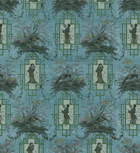 Fabric - Chinoiserie - Eldest Princess - Blue