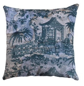 Cushion Cover  - Chinoiserie - Enchanted Garden - Fading Pewter