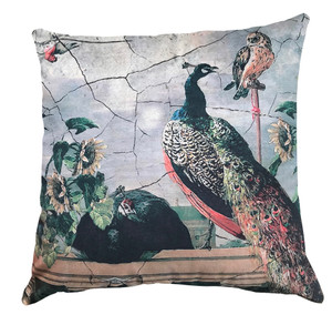 Cushion Cover  - The Birds - Peacock