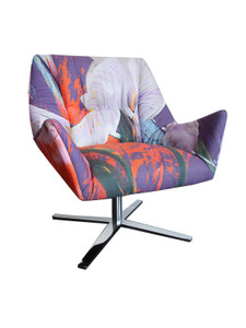 PRISMA CHAIR - BLURRED VISION IRIS UPHOLSTERY