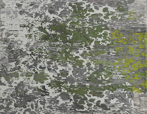 Rug - Chalky Landscape - Green and Grey