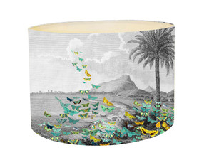 Lampshade - Tropical Butterfly Storm