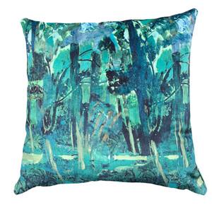 Cushion Cover - Fauve Forest - Blue