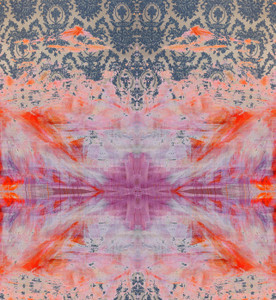 Fabric -  Damask in Distress - Tie Dye