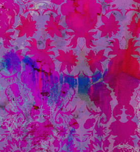 Fabric - Colour Crash - Magenta Damask