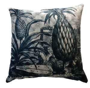 Cushion Cover - Pineapple Picker - Petrol Blue