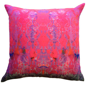 Cushion Cover - Colour Crash - Magenta Damask