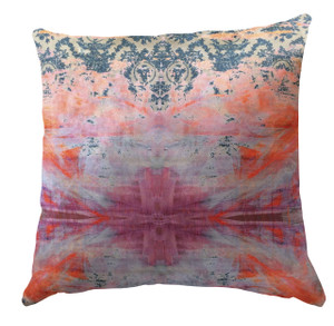 Cushion Cover - Damask in Distress - Tie Dye