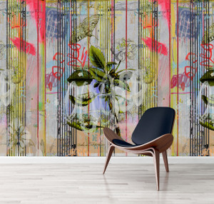 Wallpaper - Botanical Ticking - Floral