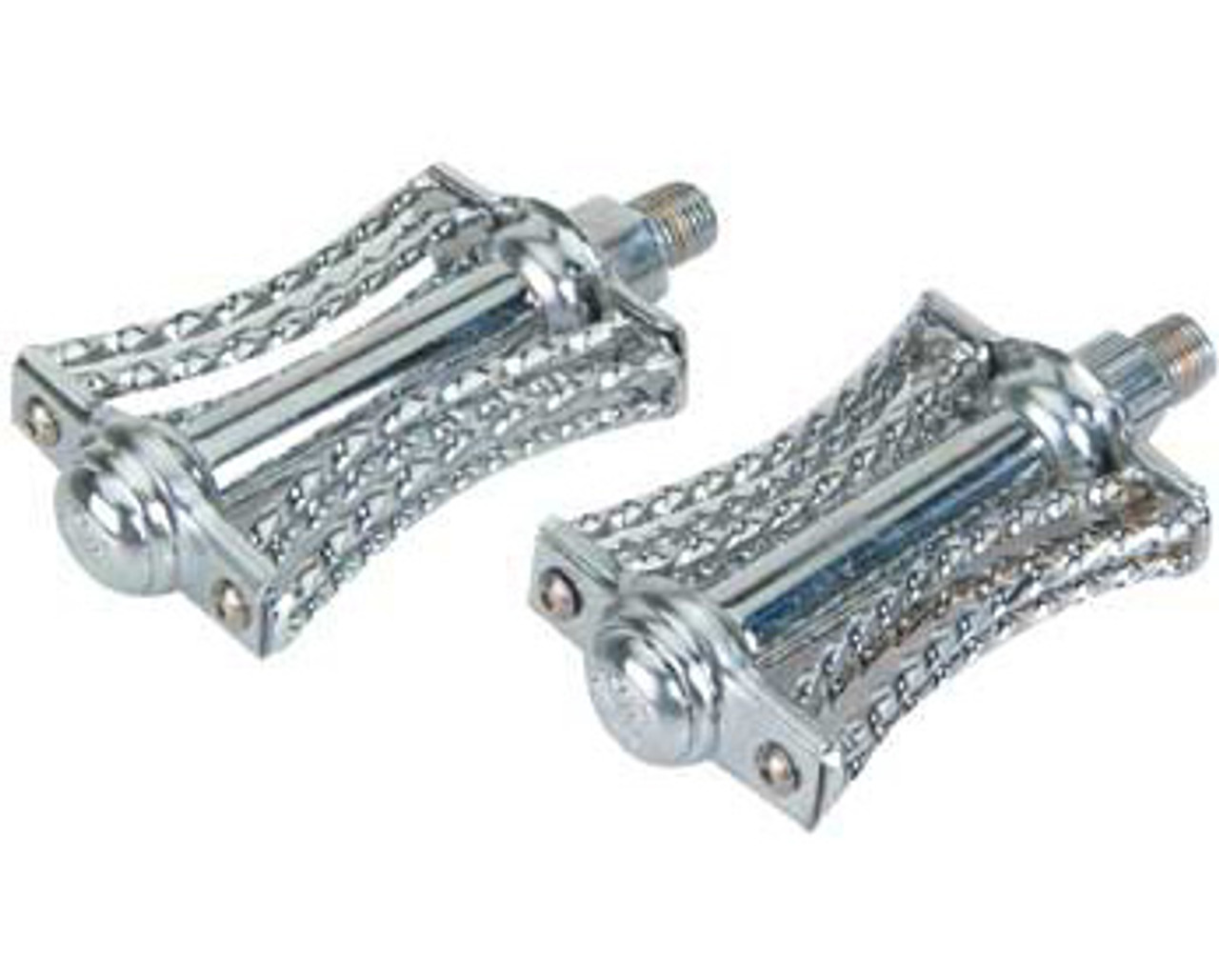 "NEW LOWRIDER double bicycle steel twisted square round twisted pedals 1//2/"" chro"