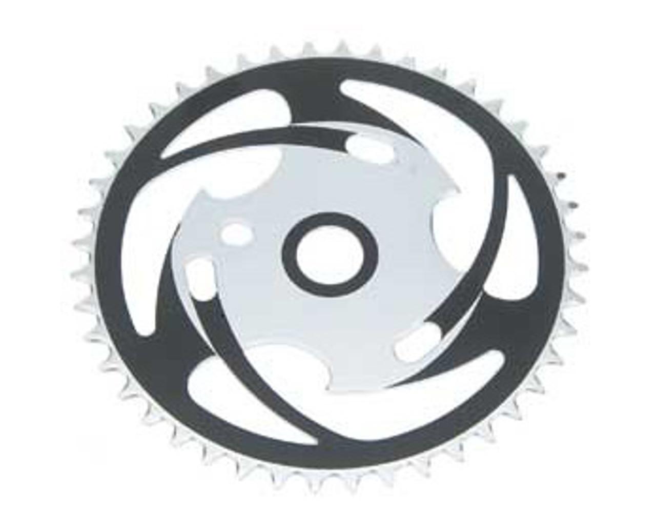 JS Chainring One Piece Crank 1 Piece Chain Wheel 44T Black//Chrome