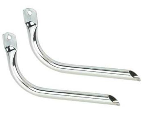 Lowrider Chrome Steel Straight Mufflers